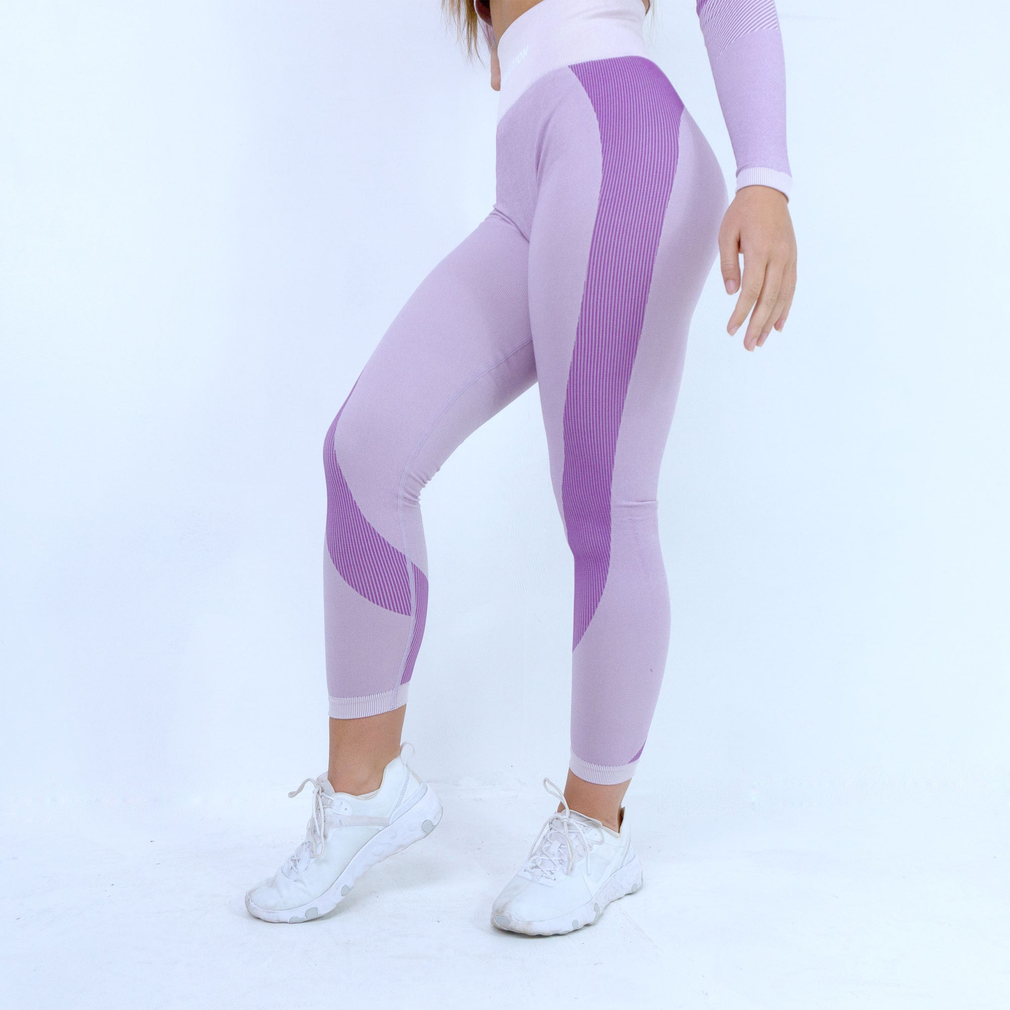 Evolution Seamless Leggings -  Baby Pink/ Lilac
