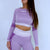 Evolution Seamless Crop Tee - Baby Pink/ Lilac