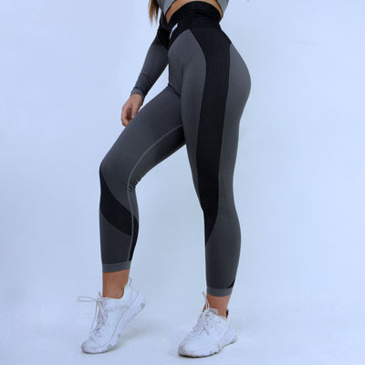 Evolution Seamless Leggings - Heather/ Dark Grey