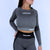 Evolution Seamless Crop Tee - Heather/ Dark Grey