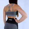 Evolution Seamless Sports Bra -  Heather/ Dark Grey