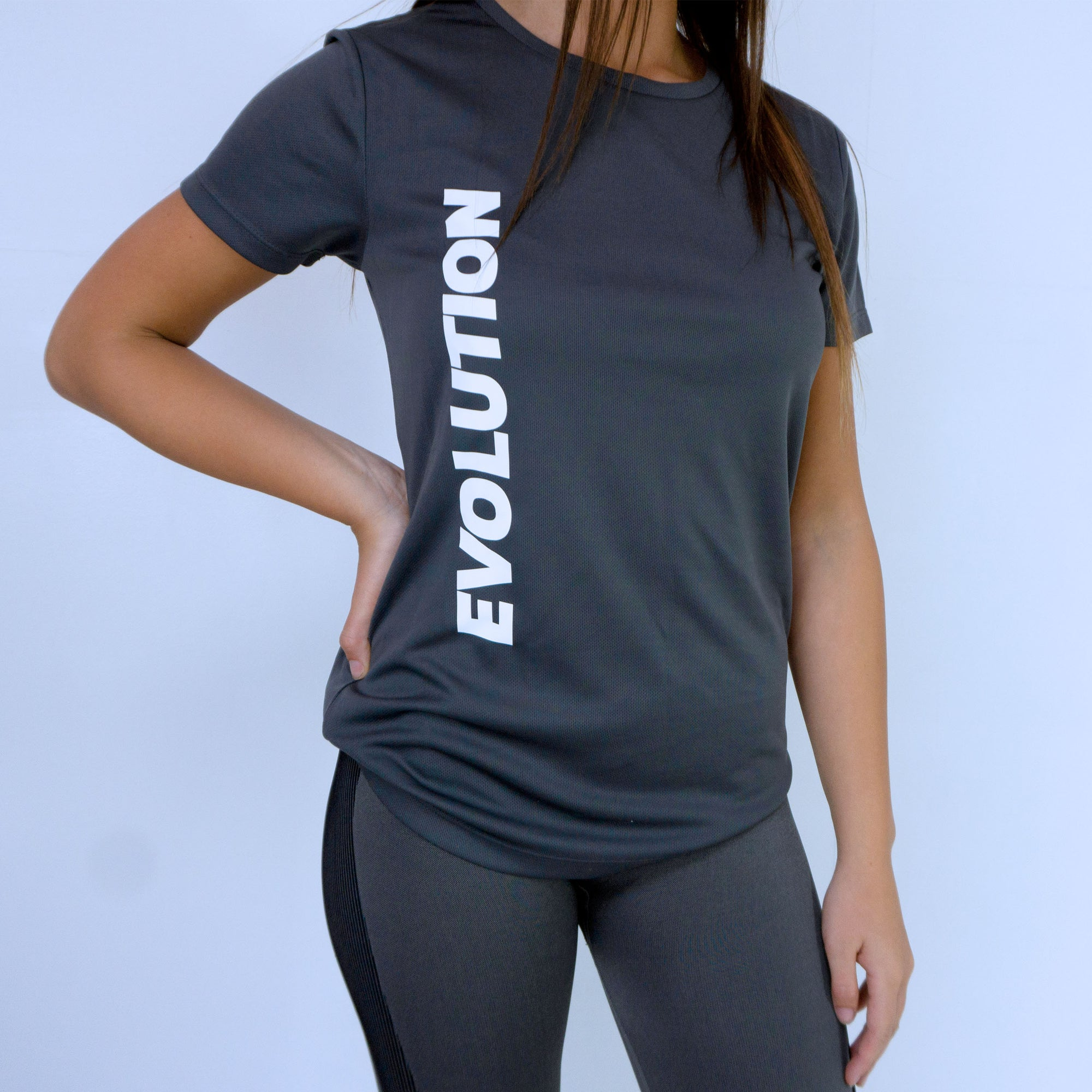 Evolution Fitness Women's T-shirt - Charcoal