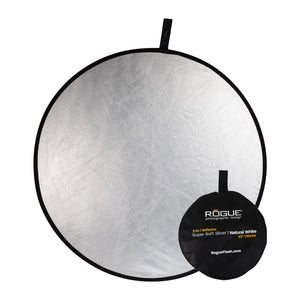 Rogue 2-in-1 Super Soft Silver / Natural White Collapsible Reflectors
