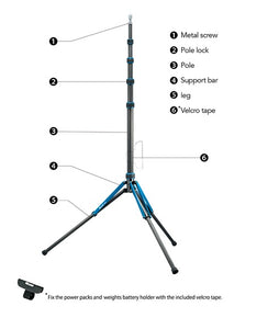 Nissin LS-65C Carbon Fiber Light Stand (106in max height)-REFURBISHED