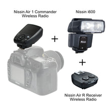 Load image into Gallery viewer, Nissin i600 Compact Flash + Air 1 Commander and Air R Receiver