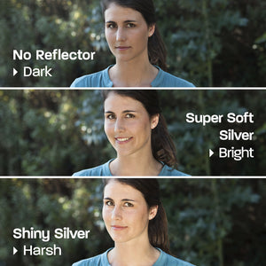 Rogue 2-in-1 Super Soft Silver / Natural White Collapsible Reflector