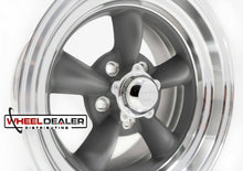 "Load image into Gallery viewer, 15"" Gray Torq Thrust II Wheels"