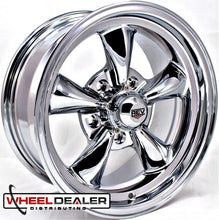 "Load image into Gallery viewer, (4) 15x8"" Chrome REV Classic 100 (Ford/Mopar)"