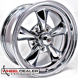 "(4) 15x8"" Chrome REV Classic 100 (Ford/Mopar)"
