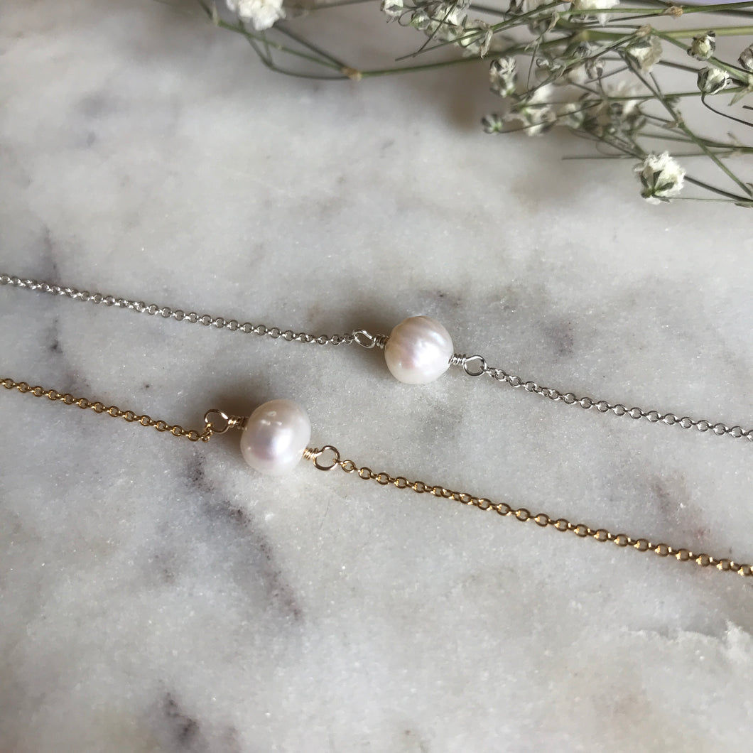 Fresh Water Pearl Accent Necklace
