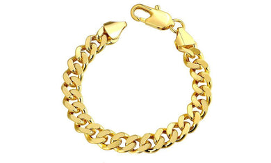 "Class Curb Bracelet in 7.5"" in 14K Gold Plating"