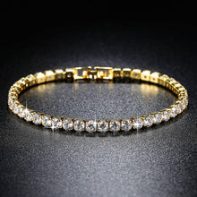 Load image into Gallery viewer, Stud Earrings and Tennis Bracelet Set Made with Swarovski Crystals