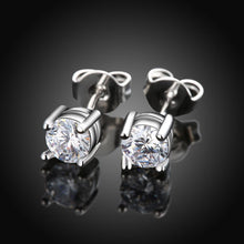 Load image into Gallery viewer, Swarovski Crystal Stud Earring in 14K White Gold Plating