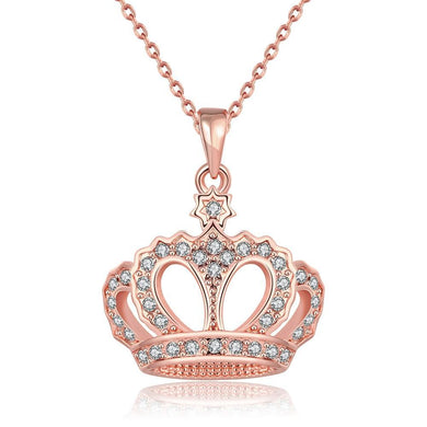 Swarovski Elements Crown Pendant Necklace
