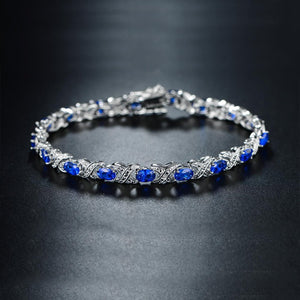 Lab-Created Blue Sapphire and Diamond Accent