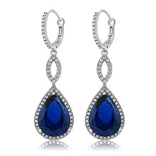 Load image into Gallery viewer, 3.55 CTTW Pear Cut Gemstone Infinity Drop Earrings