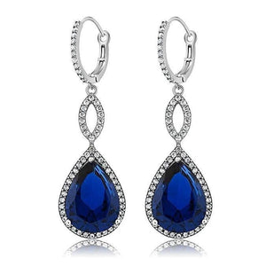 3.55 CTTW Pear Cut Gemstone Infinity Drop Earrings