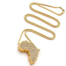 Load image into Gallery viewer, Iced Out Mother Africa Diamond Pendant Necklace