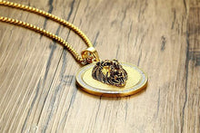 Load image into Gallery viewer, King of the Jungle Lion Pendant Medallion Necklace