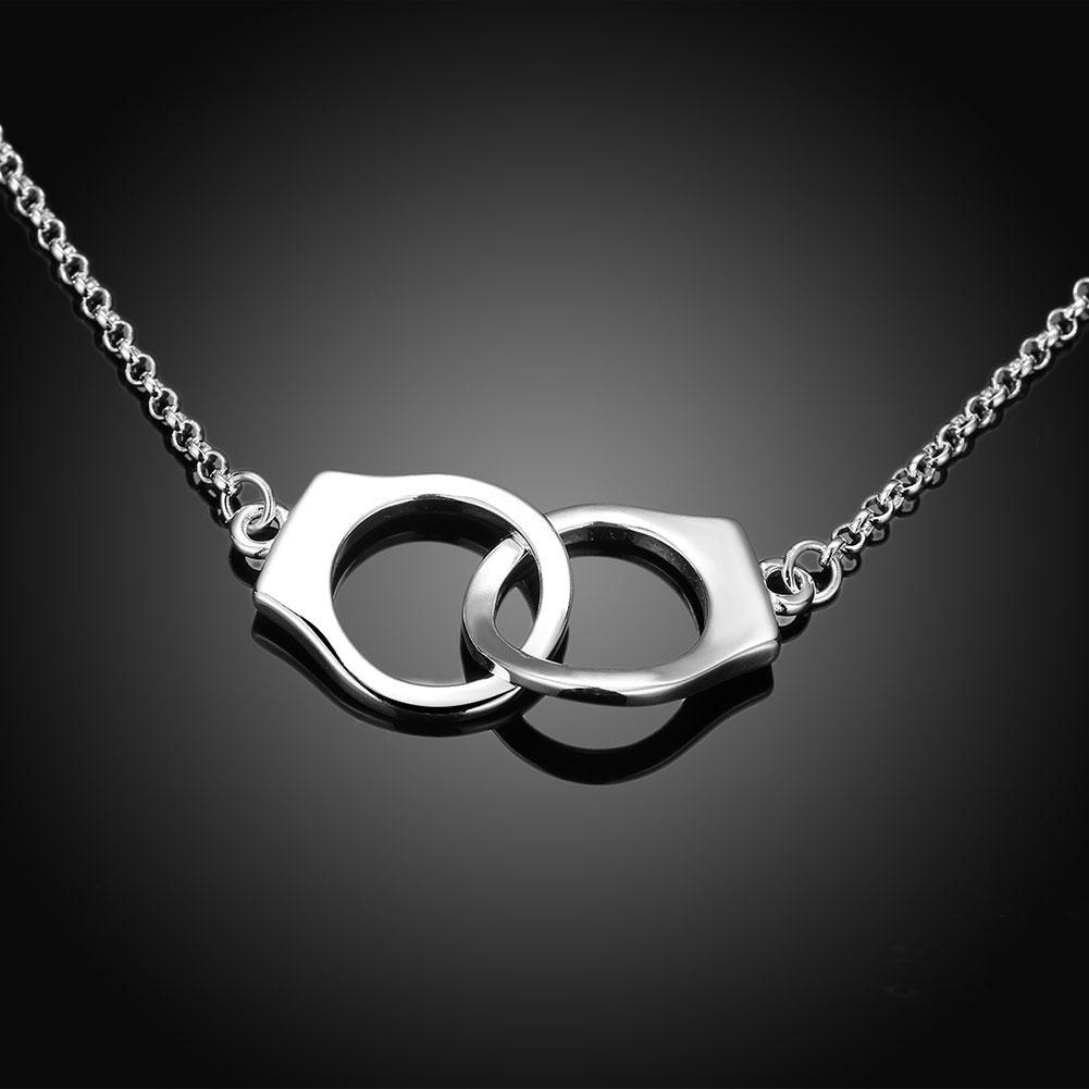 Handcuff Necklace in 18K White Gold Plating