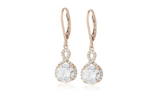 Load image into Gallery viewer, Infinity Crystal Drop Earrings Made with Swarovski Crystals