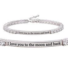 Load image into Gallery viewer, I Love You To The Moon And Back Bracelet
