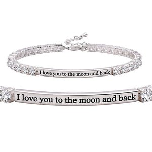I Love You To The Moon And Back Bracelet