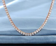 Load image into Gallery viewer, 3mm Tennis Necklace with Swarovski Crystals in 18K Rose Gold Plating