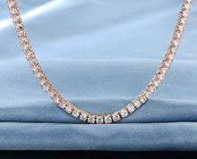 Load image into Gallery viewer, 55 CTTW Swarovski Elements Tennis Necklace Set in 18K Gold Plating