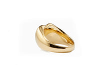 Load image into Gallery viewer, Heart Signet Ring in 18K Gold Plating