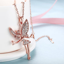 Load image into Gallery viewer, Tinkerbell Classic Necklace in 18K Rose Gold Plating
