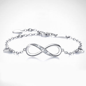 White Swarovski Elements Infinite Pendant Chain