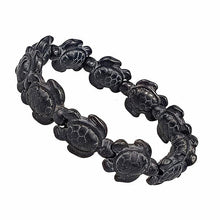 Load image into Gallery viewer, Save the Turtles Stretch Bracelet - 2 Colors