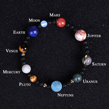 Load image into Gallery viewer, Full Planets of the Galaxy Marble Stretch Bracelet