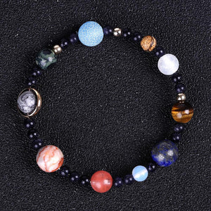 Full Planets of the Galaxy Marble Stretch Bracelet