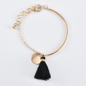 Egyptian Design Gold Ingrain Black Tassel 3 Piece