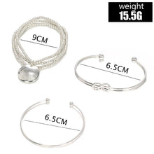 Load image into Gallery viewer, Classic Loveknot Twisted 3 Piece Bracelet Set