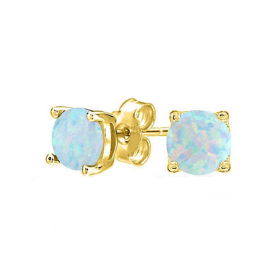 1.55 CTTW Oceanic Opal Classic Studs in 18K Gold Plating