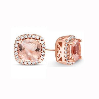 2.00 CTTW Morganite Cushion Cut Pav
