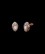 Load image into Gallery viewer, 1.00 CT Morganite Marquise Cut Stud Earring in 18K Rose Gold Plating
