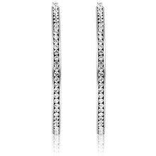 "Load image into Gallery viewer, 3"" Classic Inside Out Pave Hoop Earring"