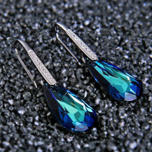 Load image into Gallery viewer, Bermuda Blue Stone Drop Earring