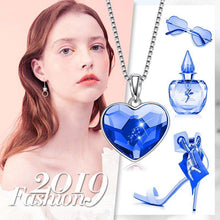 Load image into Gallery viewer, Classic Bermuda blue Heart Necklace