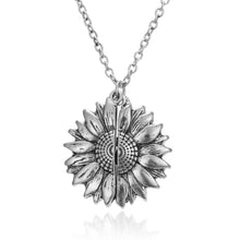 Load image into Gallery viewer, You Are My Sunshine Open Sunflower Necklace in 14K Gold Plating