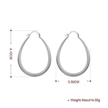 Load image into Gallery viewer, 40mm French Lock Hoop Earring in 18K White Gold Plating