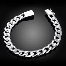 Load image into Gallery viewer, Silver Italian Curb Chain Bracelet