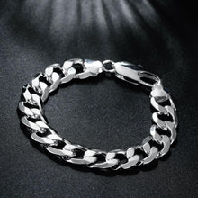 Load image into Gallery viewer, Thick Curb Bracelet in 18K White Gold Plating