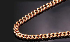 Durable Classic Men's Curb Chain Necklace - Three