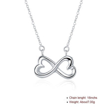 Load image into Gallery viewer, Infinity Heart Necklace in 18K White Gold Plating