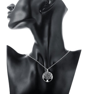 Tree of Life Necklace in 18K White Gold Plating